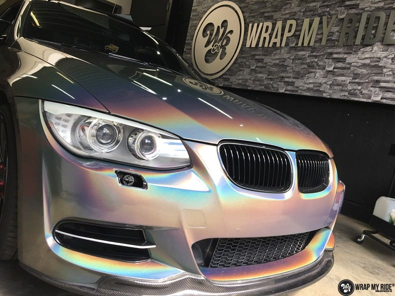 BMW E92 Coupe 3M gloss flip Psycedelic, Carwrapping door Wrapmyride.nu Foto-nr:10260, ©2018