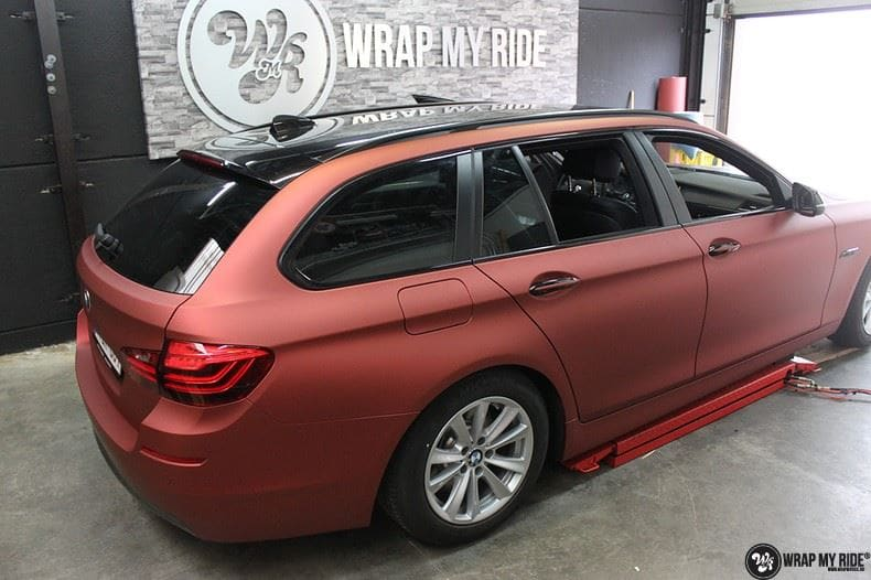 BMW F10 Arlon Red Aluminium, Carwrapping door Wrapmyride.nu Foto-nr:9157, ©2021