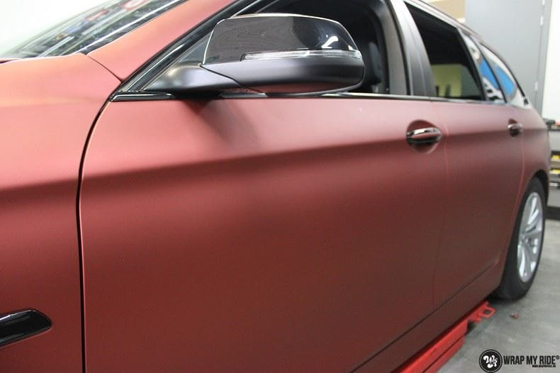 BMW F10 Arlon Red Aluminium, Carwrapping door Wrapmyride.nu Foto-nr:9154, ©2021