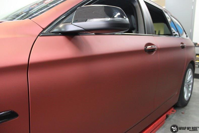 BMW F10 Arlon Red Aluminium, Carwrapping door Wrapmyride.nu Foto-nr:9154, ©2020