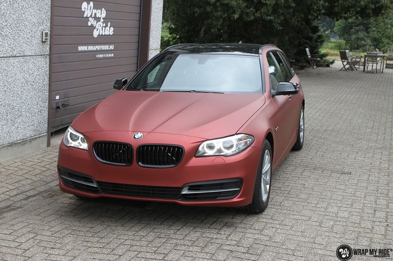 BMW F10 Arlon Red Aluminium, Carwrapping door Wrapmyride.nu Foto-nr:9152, ©2021