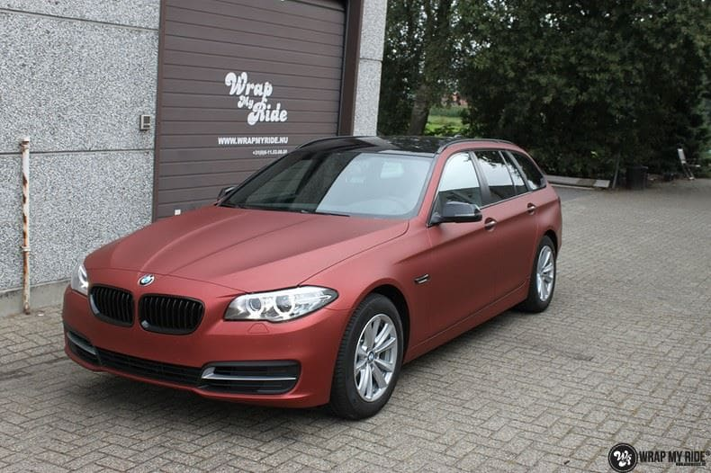BMW F10 Arlon Red Aluminium, Carwrapping door Wrapmyride.nu Foto-nr:9151, ©2021