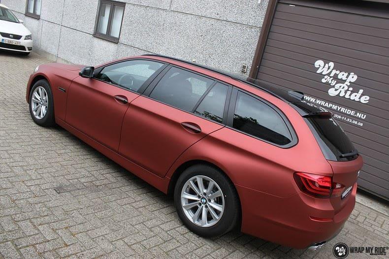 BMW F10 Arlon Red Aluminium, Carwrapping door Wrapmyride.nu Foto-nr:9150, ©2018