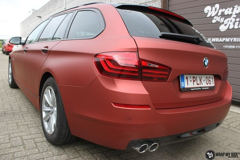 BMW F10 Arlon Red Aluminium, Carwrapping door Wrapmyride.nu Foto-nr:9149, ©2018