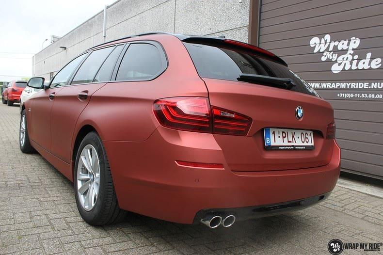 BMW F10 Arlon Red Aluminium, Carwrapping door Wrapmyride.nu Foto-nr:9148, ©2018
