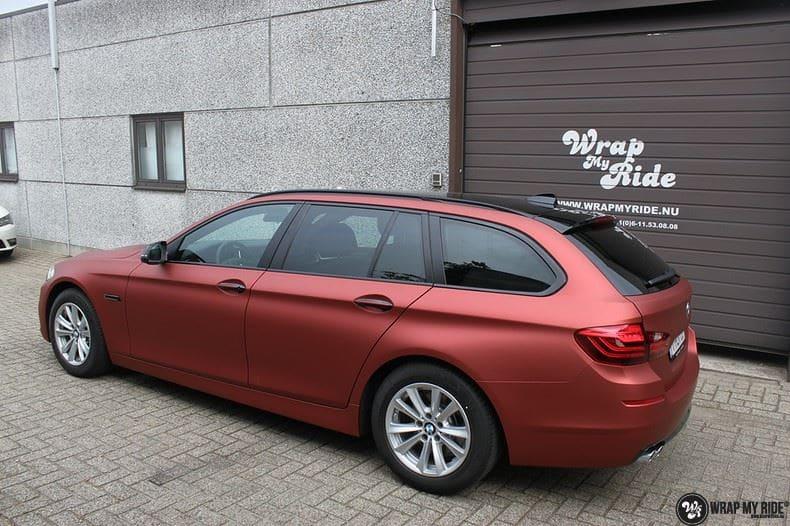 BMW F10 Arlon Red Aluminium, Carwrapping door Wrapmyride.nu Foto-nr:9147, ©2018