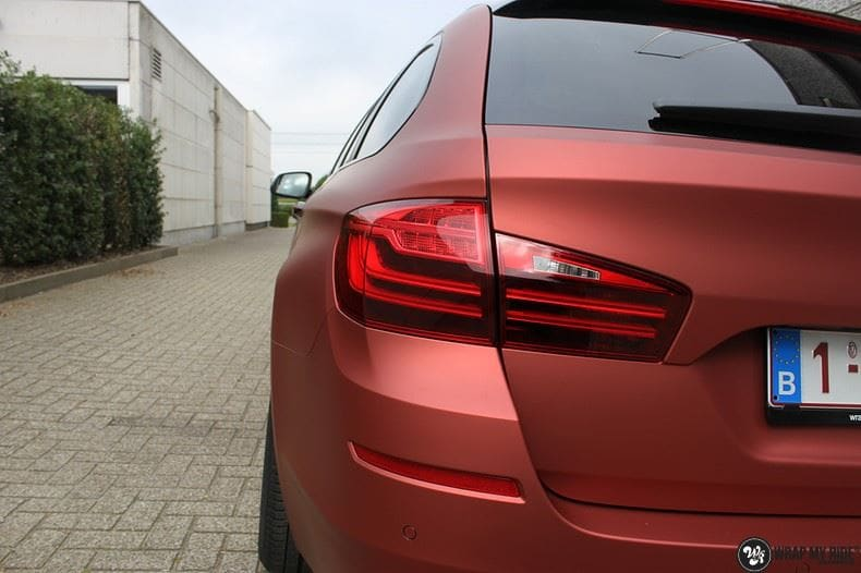 BMW F10 Arlon Red Aluminium, Carwrapping door Wrapmyride.nu Foto-nr:9146, ©2021