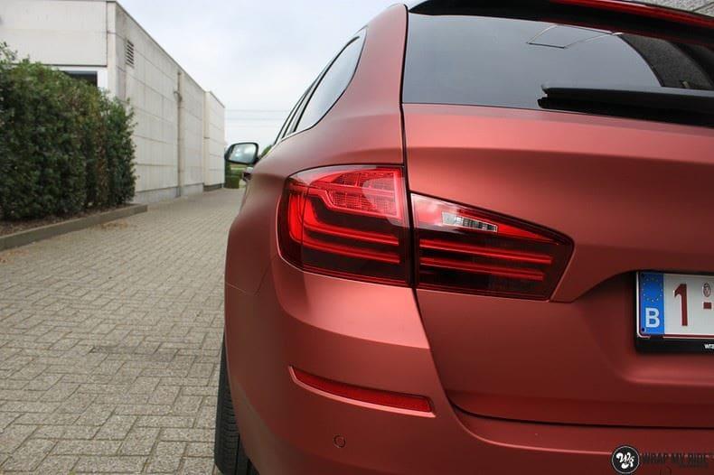 BMW F10 Arlon Red Aluminium, Carwrapping door Wrapmyride.nu Foto-nr:9146, ©2018