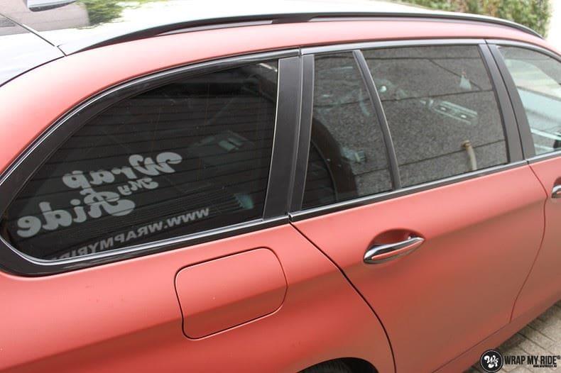 BMW F10 Arlon Red Aluminium, Carwrapping door Wrapmyride.nu Foto-nr:9145, ©2018
