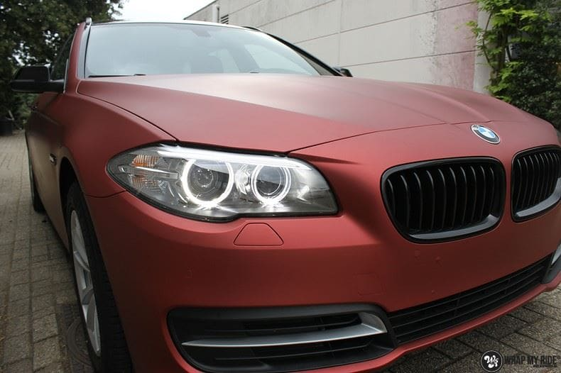BMW F10 Arlon Red Aluminium, Carwrapping door Wrapmyride.nu Foto-nr:9144, ©2021