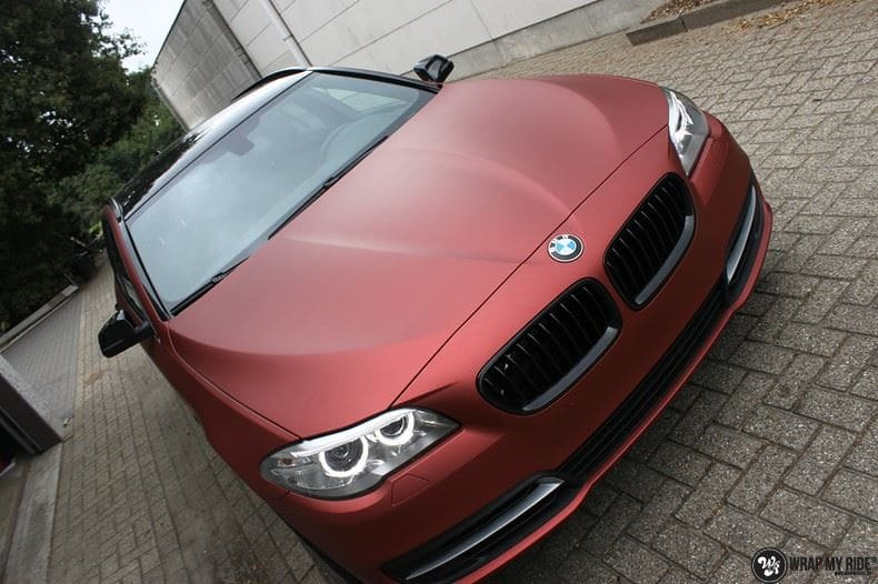 BMW F10 Arlon Red Aluminium, Carwrapping door Wrapmyride.nu Foto-nr:9143, ©2020