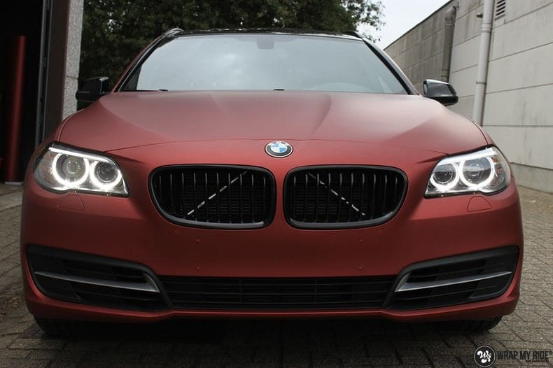 BMW F10 Arlon Red Aluminium, Carwrapping door Wrapmyride.nu Foto-nr:9142, ©2018