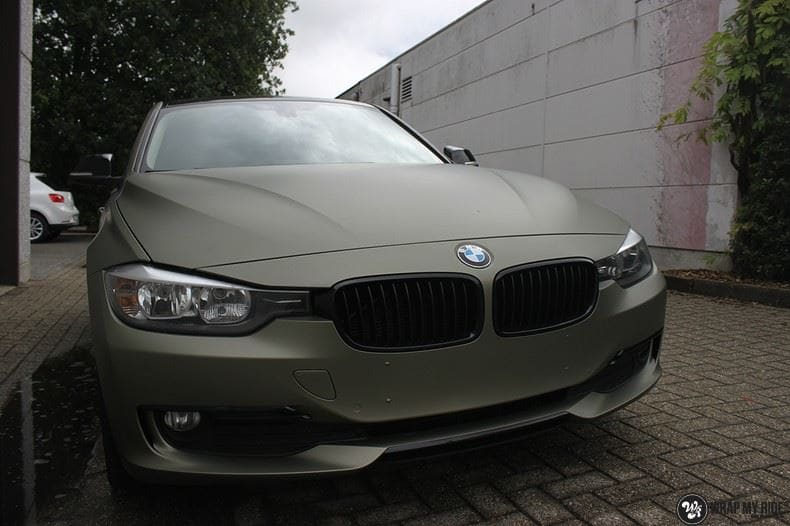 BMW F30 Matte Midnight Sand, Carwrapping door Wrapmyride.nu Foto-nr:9038, ©2020