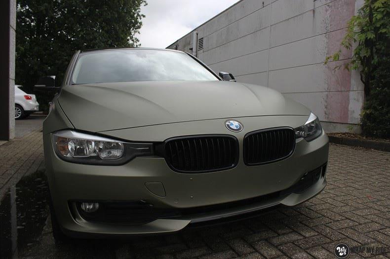 BMW F30 Matte Midnight Sand, Carwrapping door Wrapmyride.nu Foto-nr:9038, ©2021