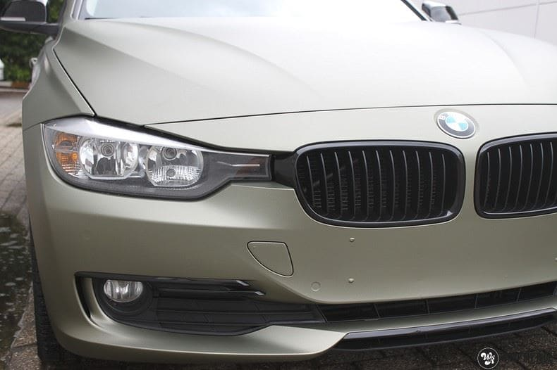 BMW F30 Matte Midnight Sand, Carwrapping door Wrapmyride.nu Foto-nr:9037, ©2021