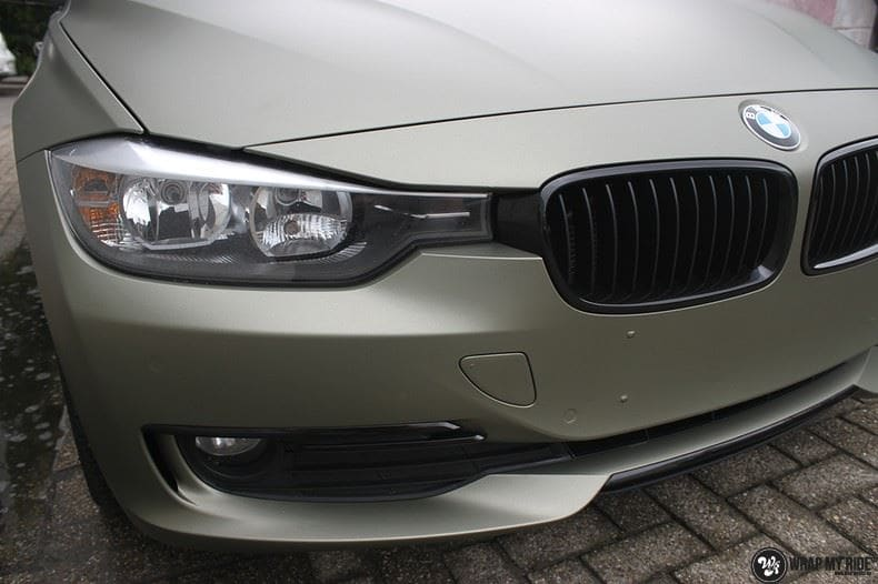 BMW F30 Matte Midnight Sand, Carwrapping door Wrapmyride.nu Foto-nr:9036, ©2021