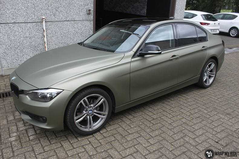 BMW F30 Matte Midnight Sand, Carwrapping door Wrapmyride.nu Foto-nr:9033, ©2020