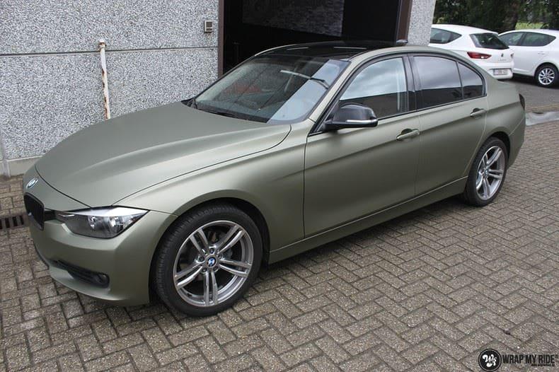 BMW F30 Matte Midnight Sand, Carwrapping door Wrapmyride.nu Foto-nr:9033, ©2021