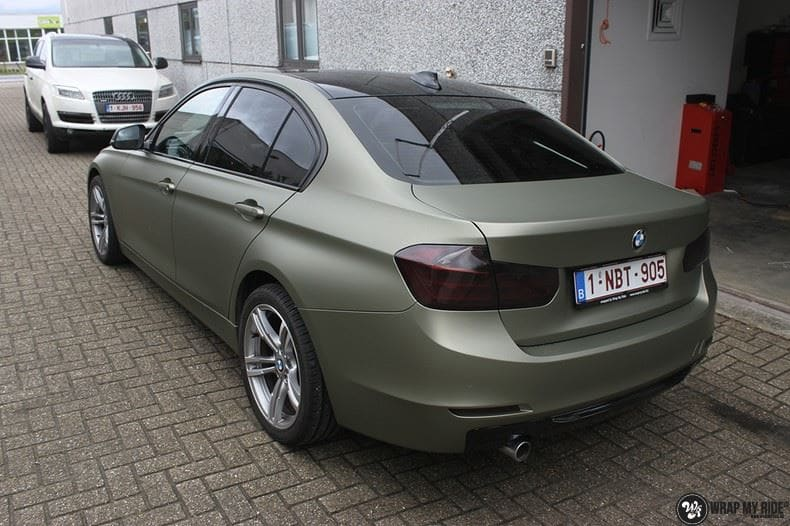 BMW F30 Matte Midnight Sand, Carwrapping door Wrapmyride.nu Foto-nr:9032, ©2020