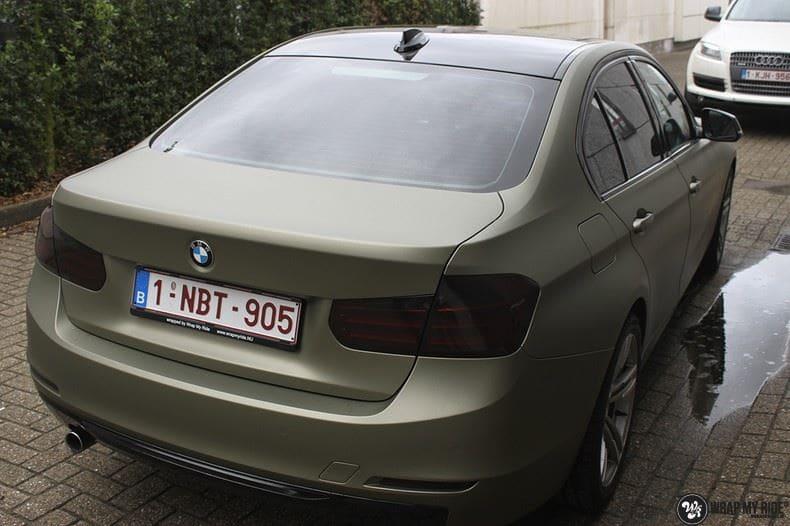 BMW F30 Matte Midnight Sand, Carwrapping door Wrapmyride.nu Foto-nr:9031, ©2021
