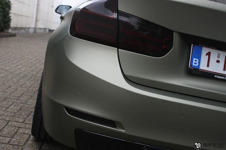 BMW F30 Matte Midnight Sand, Carwrapping door Wrapmyride.nu Foto-nr:9030, ©2021