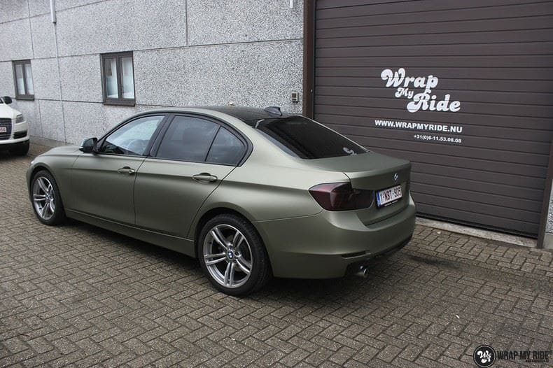 BMW F30 Matte Midnight Sand, Carwrapping door Wrapmyride.nu Foto-nr:9029, ©2020