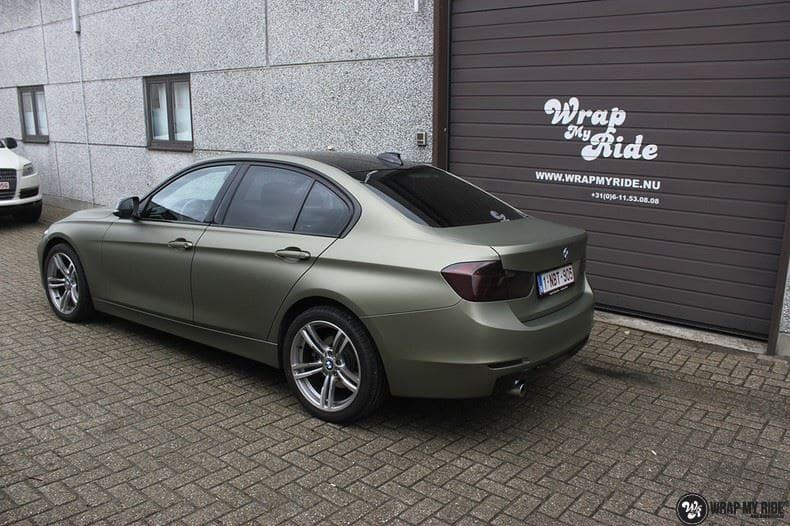 BMW F30 Matte Midnight Sand, Carwrapping door Wrapmyride.nu Foto-nr:9029, ©2021