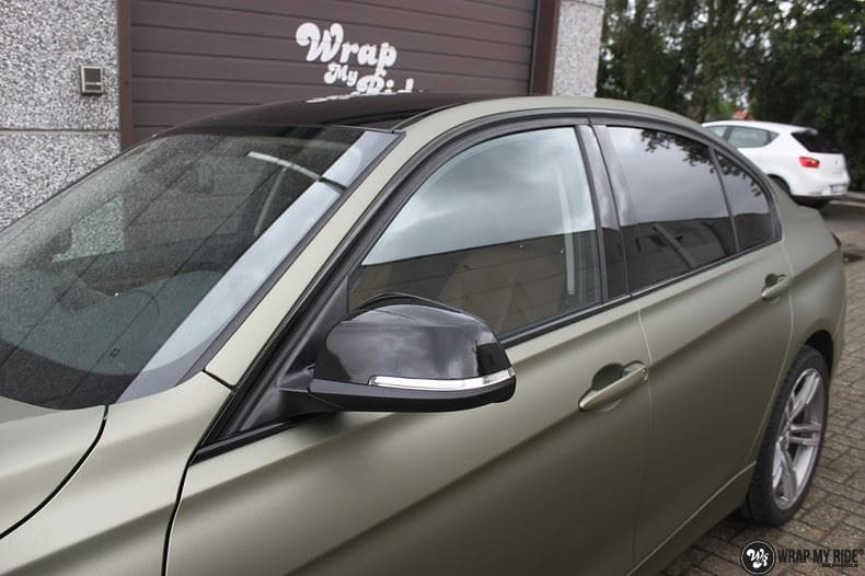 BMW F30 Matte Midnight Sand, Carwrapping door Wrapmyride.nu Foto-nr:9024, ©2020