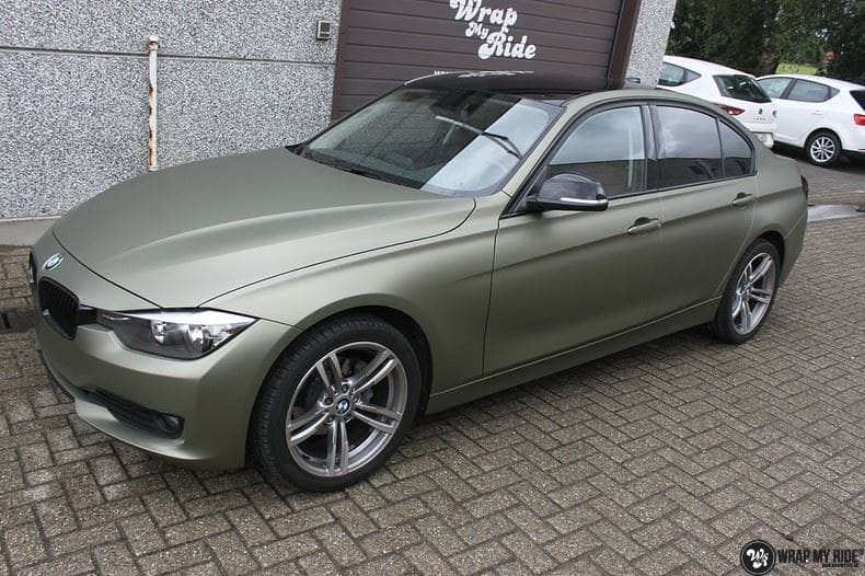 BMW F30 Matte Midnight Sand, Carwrapping door Wrapmyride.nu Foto-nr:9023, ©2020