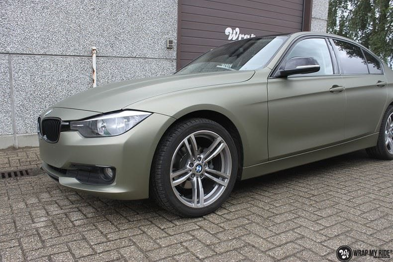 BMW F30 Matte Midnight Sand, Carwrapping door Wrapmyride.nu Foto-nr:9022, ©2020