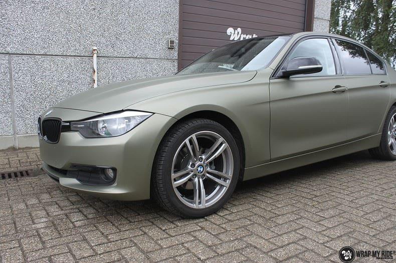 BMW F30 Matte Midnight Sand, Carwrapping door Wrapmyride.nu Foto-nr:9022, ©2021