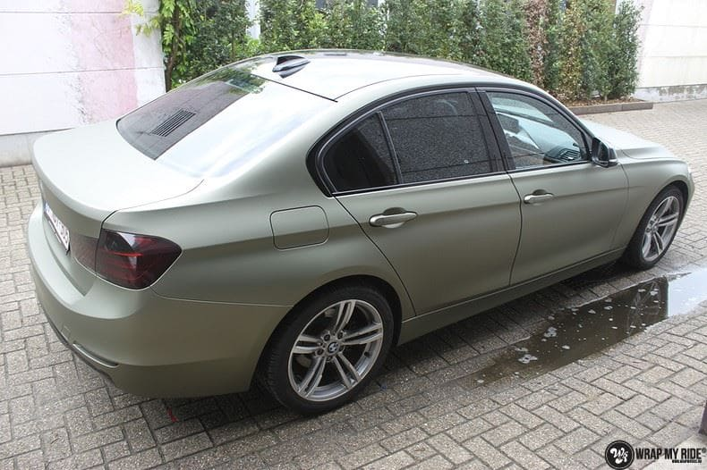 BMW F30 Matte Midnight Sand, Carwrapping door Wrapmyride.nu Foto-nr:9018, ©2020