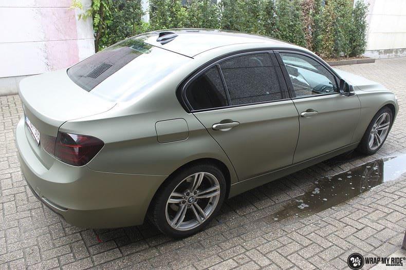 BMW F30 Matte Midnight Sand, Carwrapping door Wrapmyride.nu Foto-nr:9018, ©2021