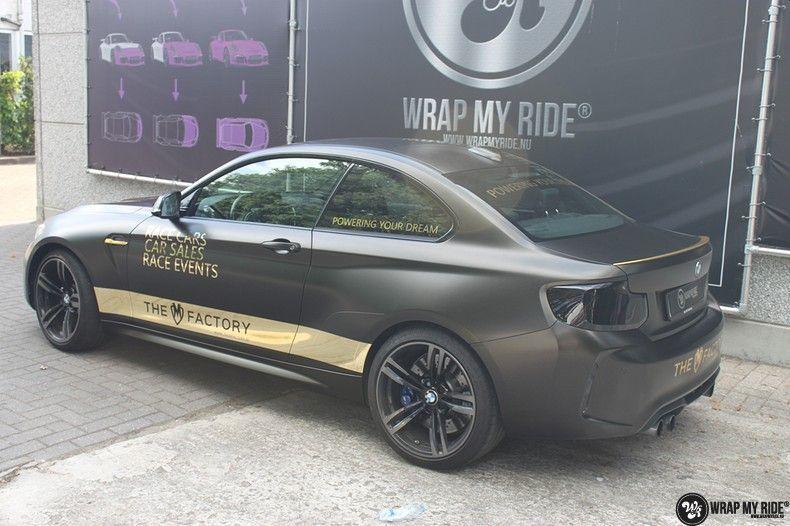 BMW M2 Satin Gold Dust, Carwrapping door Wrapmyride.nu Foto-nr:11573, ©2021