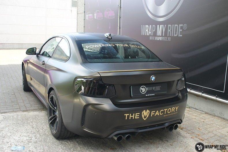 BMW M2 Satin Gold Dust, Carwrapping door Wrapmyride.nu Foto-nr:11572, ©2021