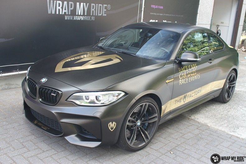 BMW M2 Satin Gold Dust, Carwrapping door Wrapmyride.nu Foto-nr:11570, ©2021