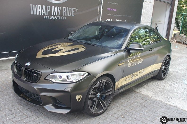 BMW M2 Satin Gold Dust, Carwrapping door Wrapmyride.nu Foto-nr:11569, ©2021