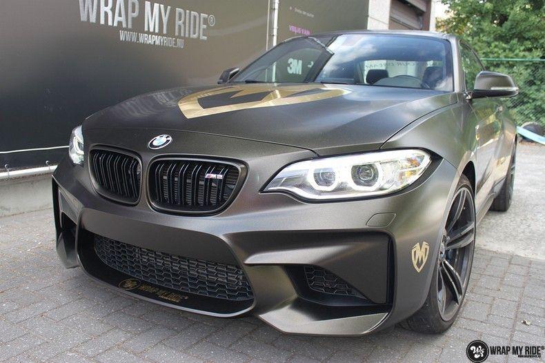 BMW M2 Satin Gold Dust, Carwrapping door Wrapmyride.nu Foto-nr:11568, ©2021