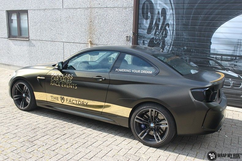 BMW M2 Satin Gold Dust, Carwrapping door Wrapmyride.nu Foto-nr:11557, ©2020