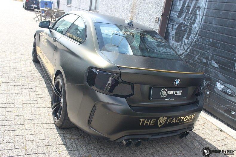 BMW M2 Satin Gold Dust, Carwrapping door Wrapmyride.nu Foto-nr:11551, ©2021