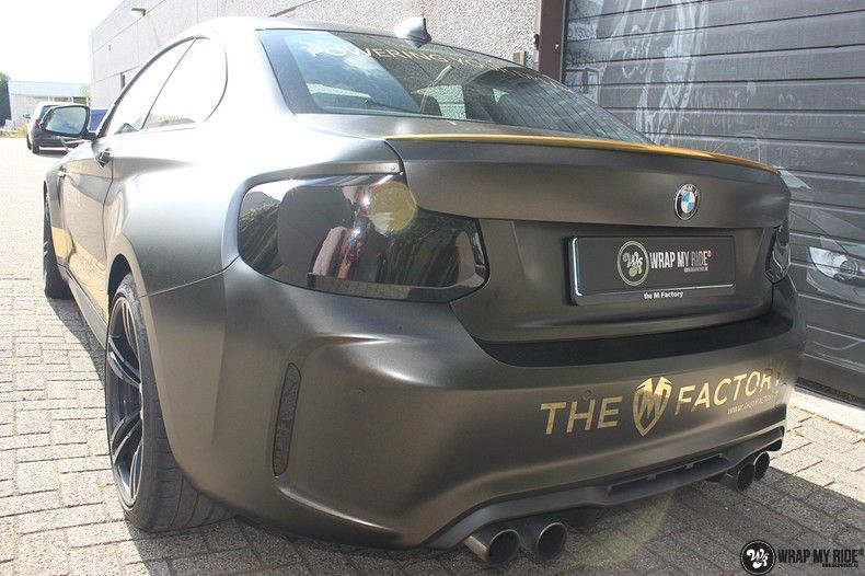 BMW M2 Satin Gold Dust, Carwrapping door Wrapmyride.nu Foto-nr:11548, ©2021
