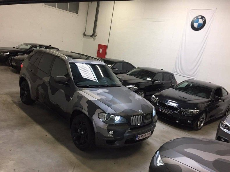 BMW X5 stealth camo wrap, Carwrapping door Wrapmyride.nu Foto-nr:11900, ©2019
