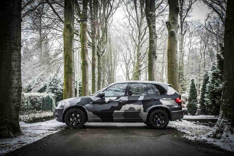 BMW X5 stealth camo wrap, Carwrapping door Wrapmyride.nu Foto-nr:11903, ©2019