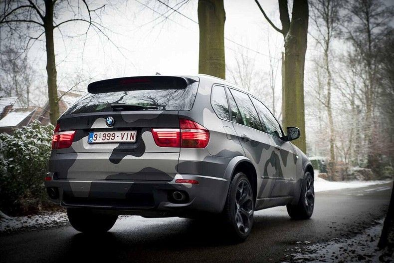 BMW X5 stealth camo wrap, Carwrapping door Wrapmyride.nu Foto-nr:11904, ©2019