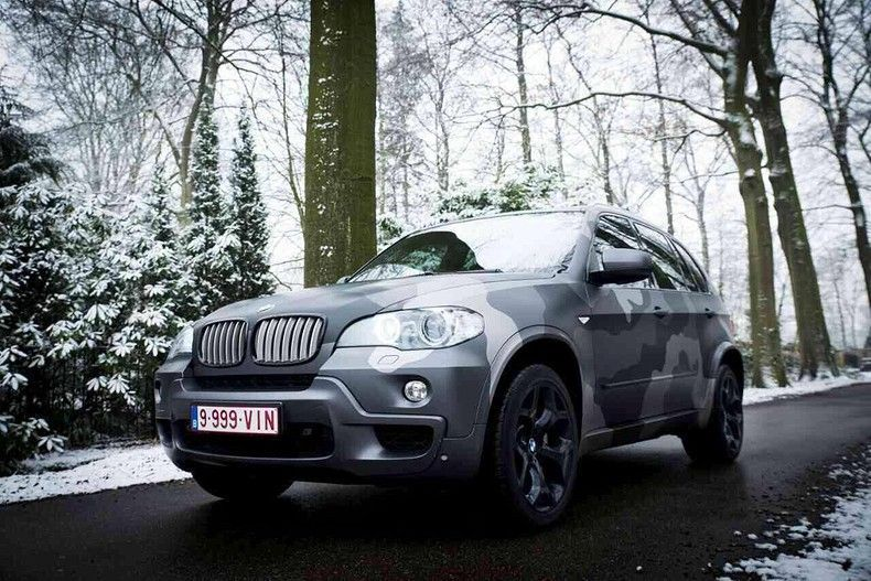 BMW X5 stealth camo wrap, Carwrapping door Wrapmyride.nu Foto-nr:11906, ©2019