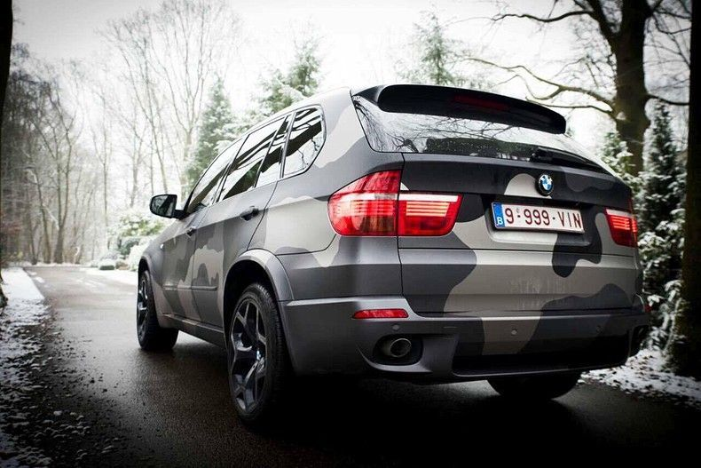BMW X5 stealth camo wrap, Carwrapping door Wrapmyride.nu Foto-nr:11909, ©2019