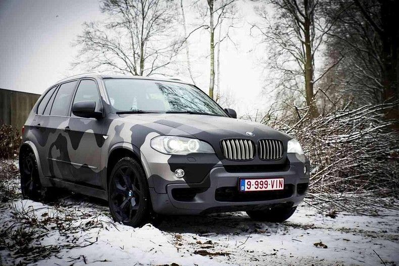 BMW X5 stealth camo wrap, Carwrapping door Wrapmyride.nu Foto-nr:11910, ©2019