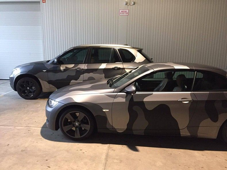 BMW 330 stealth camo wrap, Carwrapping door Wrapmyride.nu Foto-nr:11916, ©2018