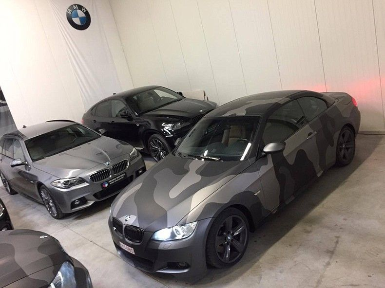 BMW 330 stealth camo wrap, Carwrapping door Wrapmyride.nu Foto-nr:11919, ©2018