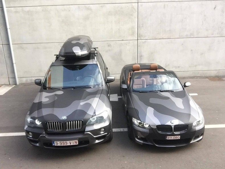 BMW X5 stealth camo wrap, Carwrapping door Wrapmyride.nu Foto-nr:11920, ©2019
